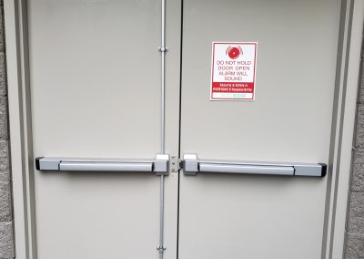 fire exit hardware installed